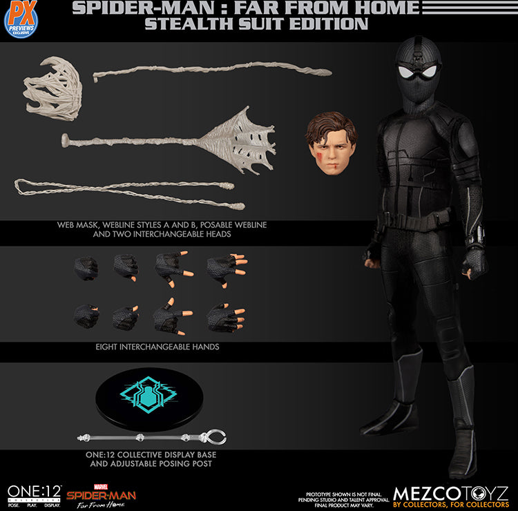 One-12 Collective 6 Inch Action Figure Spider-Man Far From Home - Spider-Man Stealth Suit