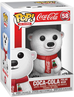 Pop Ad Icons 3.75 Inch Action Figure Coca Cola - Coca-Cola Polar Bear #58