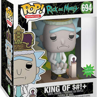 Pop Animation 3.75 Inch Action Figure Rick and Morty - King Of $#!+ #694