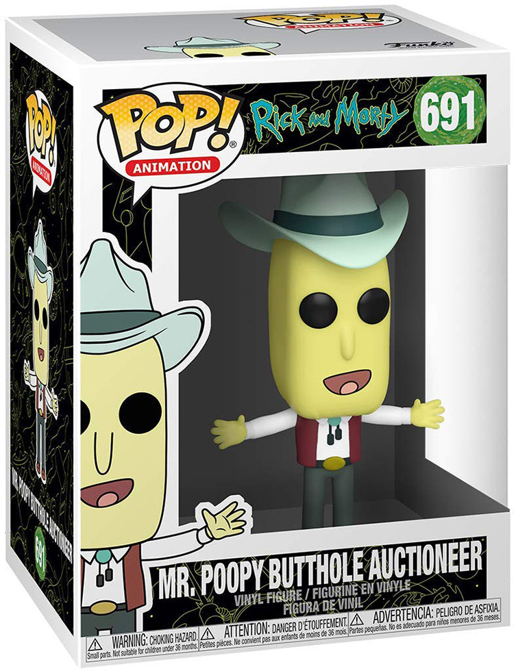 Pop Animation 3.75 Inch Action Figure Rick and Morty - Mr Poopy Butthole Auctioneer #691
