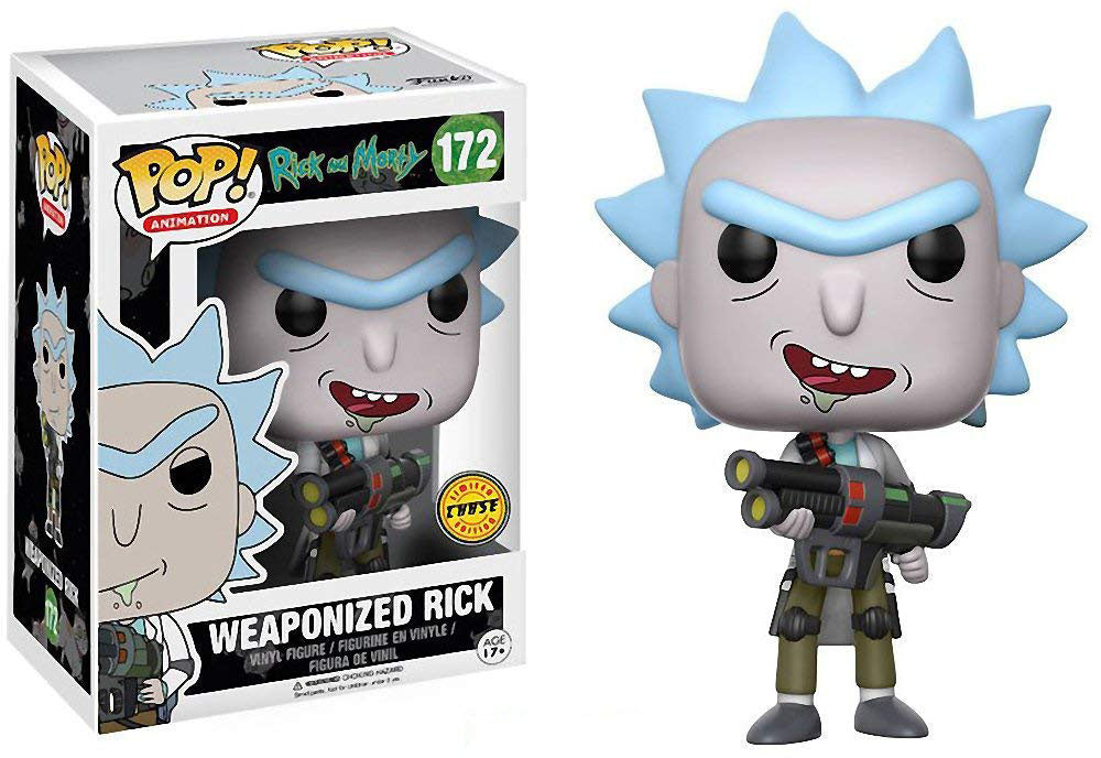 Pop Animation 3.75 Inch Action Figure Rick & Morty - Weaponized Rick #172 Chase