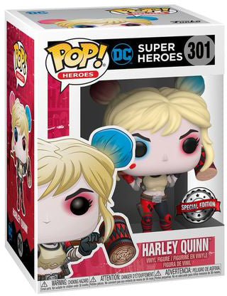 Pop DC Heroes 3.75 Inch Action Figure Harley Quinn - Harley Quinn Mallet on Shoulders #301 Exclusive