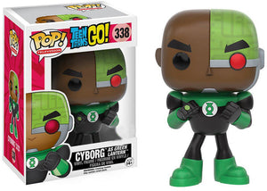 Pop DC Heroes 3.75 Inch Action Figure Teen Titans Go - Cyborg as Green Lantern #338
