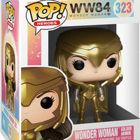 Pop DC Heroes 3.75 Inch Action Figure Wonder Woman 1984 - Wonder Woman Golden Armor #323