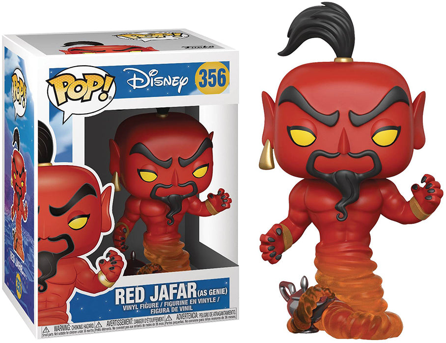 Pop Disney Aladdin 3.75 Inch Action Figure - Red Jafar as Genie #356