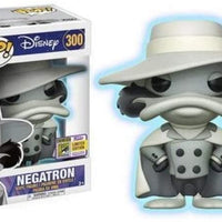 Pop Disney 3.75 Inch Action Figure Darkwing Duck - Negatron Black & White #300 Exclusive
