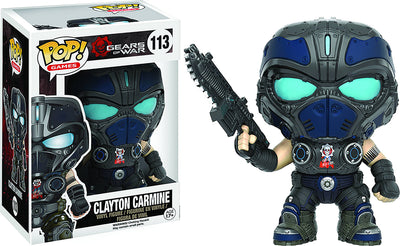 Pop Games Gears Of War 3.75 Inch Action Figure - Clayton Carmine #113
