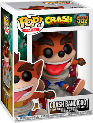 Pop Games 3.75 Inch Action Figure Crash Bandicoot - Crash Bandicoot #532