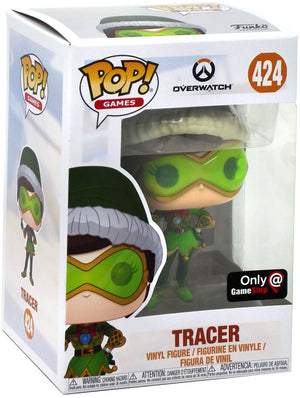 Pop Games 3.75 Inch Action Figure Overwatch - Tracer Winter Wonderland #424 Exclusive