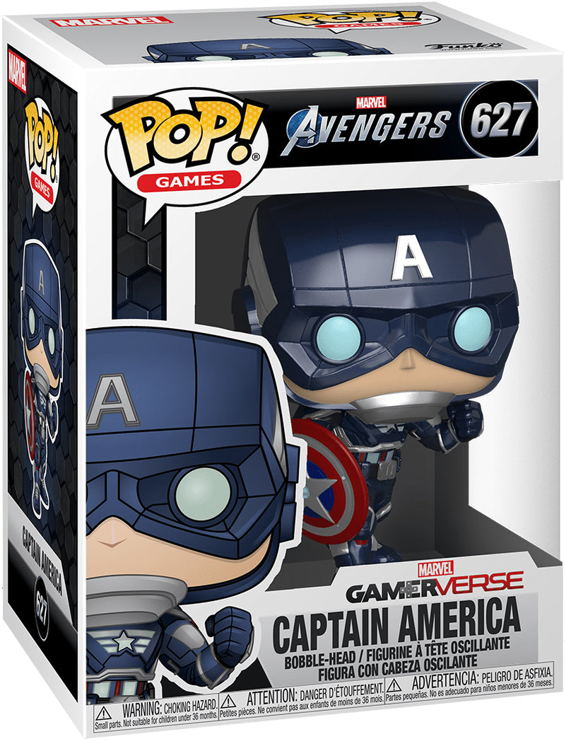 Pop Marvel 3.75 Inch Action Figure Avengers - Gamerverse Captain America #627