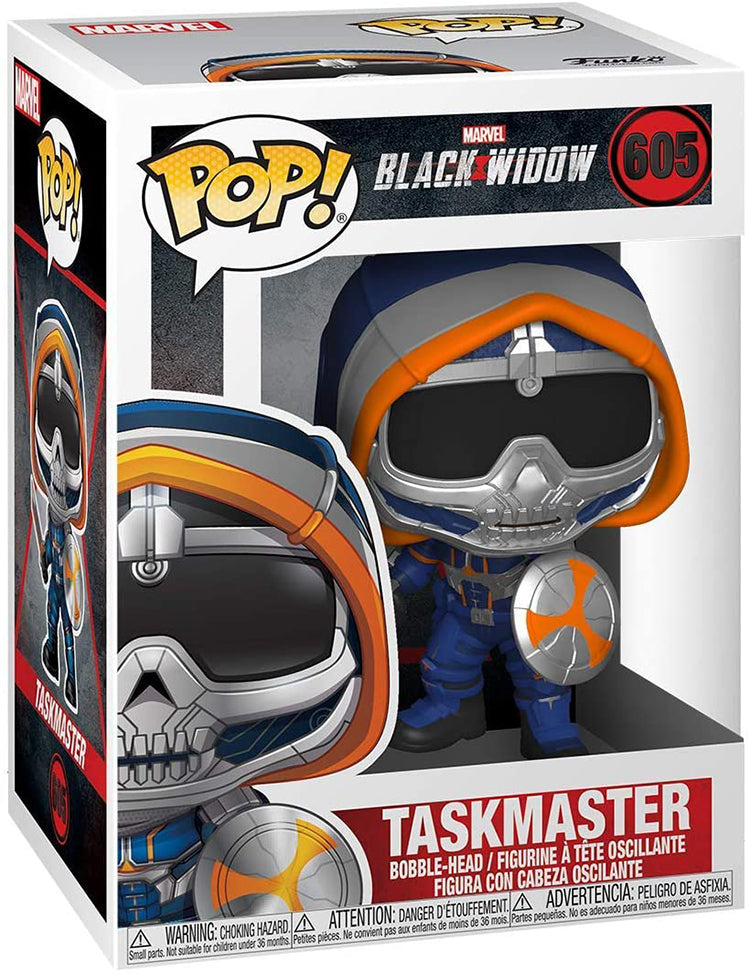 Pop Marvel 3.75 Inch Action Figure Black Widow - Taskmaster with Shield #605