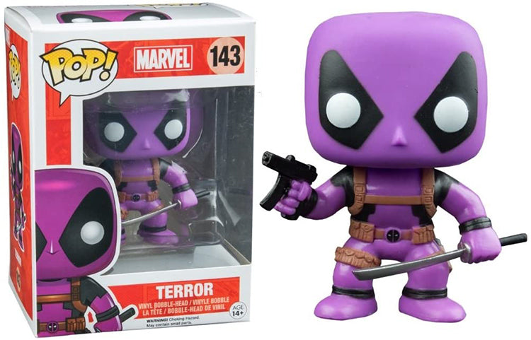 Pop Marvel 3.75 Inch Action Figure Deadpool - Terror Deadpool #143 Exclusive
