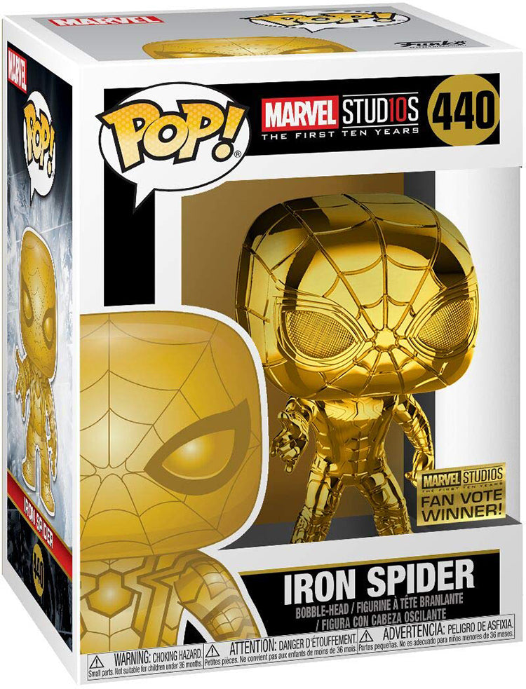 Pop Marvel 3.75 Inch Action Figure The First Ten Years - Gold Iron Spider-Man #440