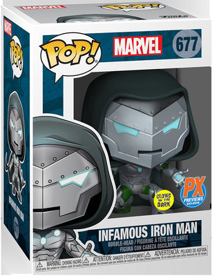 Pop Marvel Victor Von Doom 3.75 Inch Action Figure Exclusive - Infamous Iron Man #677