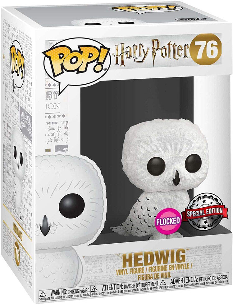 Pop Movies 3.75 Inch Action Figure Harry Potter - Flocked Hedwig #76 Exclusive