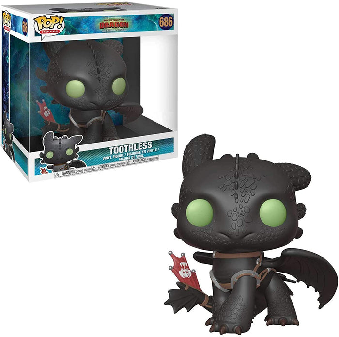 Pop Movies How to Train Your Dragon 3 10 Inch Action Figure Giant Series Exclusive - Toothless #686