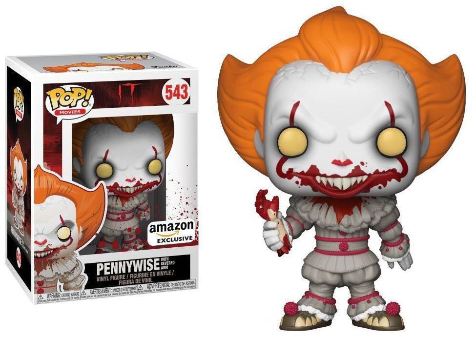 Pop Movies 3.75 Inch Action Figure IT - Pennywise with Severed Arm #543 Exclusive