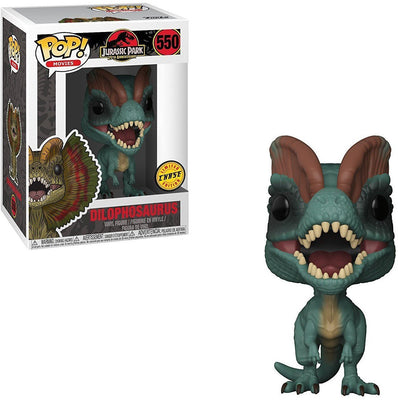 Pop Movies 3.75 Inch Action Figure Jurassic Park - Dilophosaurus #550 Chase
