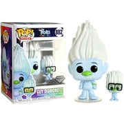 Pop Movies 3.75 Inch Action Figure Trolls - Guy Diamond with Tiny #882