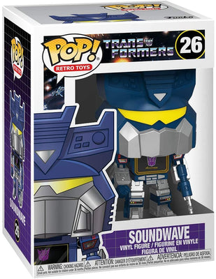 Pop Retro Toys Transformers 3.75 Inch Action Figure - Soundwave #26