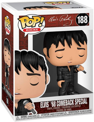 Pop Rocks Elvis Presley 3.75 Inch Action Figure - Elvis 68 Comeback Special #188