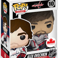 Pop Sports 3.75 Inch Action Figure NHL Hockey - Alex Ovechkin White #10