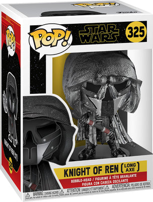 Pop Star Wars 3.75 Inch Action Figure Rise Of Skywalker - Knight Of Ren Long Axe #325
