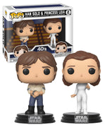 Pop Star Wars 3.75 Inch Action Figure Star Wars - Han Solo & Princess Leia 2-Pack