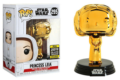 Pop Star Wars 3.75 Inch Action Figure Star Wars - Princess Leia Gold #295 Exclusive