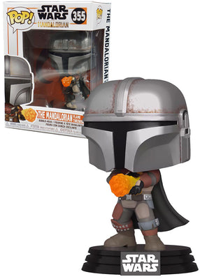 Pop Star Wars 3.75 Inch Action Figure Star Wars - The Mandalorian Flame Throwing #355 Exclusive
