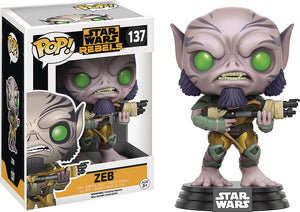 Pop Star Wars Star Wars Rebels 3.75 Inch Action Figure - Zeb #137
