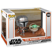 Pop Star Wars 3.75 Inch Figure The Mandalorian Movie Moment - Mandalorian & Child #390