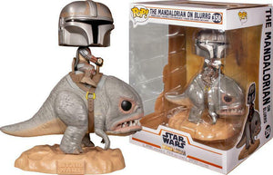 Pop Star Wars 3.75 Inch Action Figure The Mandalorian - The Mandalorian On Blurrg #358