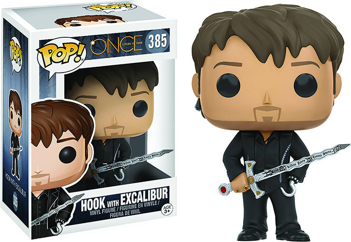 Pop Television 3.75 Inch Action Figure Once Upon A Time - Hook with Excalibur #385