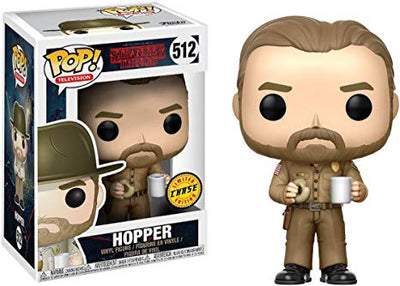 Pop Television 3.75 Inch Action Figure Stranger Things - Hopper #512 Chase