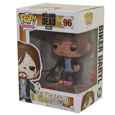 Pop Television The Walking Dead 3.75 Inch Action Figure Exclusive - Bloody Biker Daryl #96
