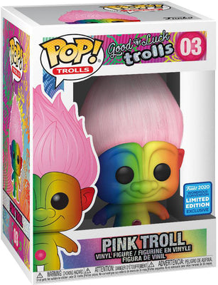 Pop Trolls Good Luck Trolls 3.75 Inch Action Figure Exclusive - Pink Troll #03