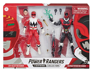 Power Rangers Lightning Collection 6 Inch Figure 2-Pack Series - Lost Galaxy Red Ranger & In Space Psycho Red Ranger