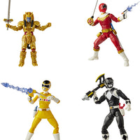 Power Rangers Lightning Collection 6 Inch Action Figure Wave 6 - Set of Zeo Red - Classic Black - Space Yellow - Goldar