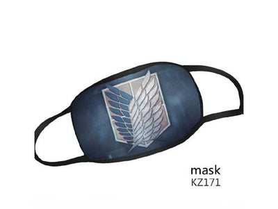 Reusable Washable Face Mask Attack On Titan Adult Size Mask - Shield Logo