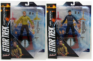 Star Trek Into Darkness 7 Inch Action Figure Select Series - Set of 2 (Kirk & Spock)