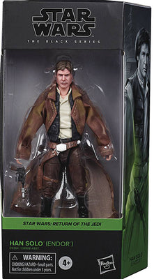 Star Wars The Black Series Box Art 6 Inch Action Figure Wave 2 Green - Han Solo Endor