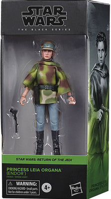 Star Wars The Black Series Box Art 6 Inch Action Figure Wave 2 Green - Princess Leia Organa Endor