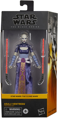 Star Wars The Black Series Box Art 6 Inch Action Figure Wave 4 - Asajj Ventress