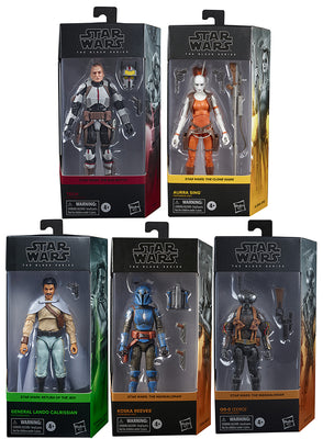 Star Wars The Black Series 6 Inch Action Figure Box Art Wave 5 - Set of 5 (Tech - Q9 - Sing - Kando - Koska)