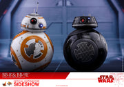 Star Wars The Last Jedi 4 Inch Action Figure Movie Masterpiece 1/6 Scale - BB-8 and BB-9E Hot Toys 903190 (Shelf Wear)