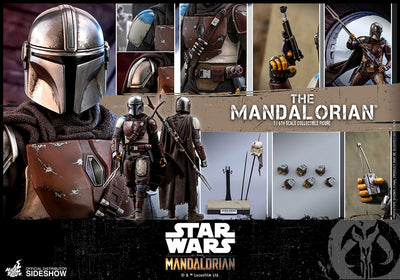 Star Wars The Mandalorean 12 Inch Action Figure 1/6 Scale Series - The Mandalorian Hot Toys 905333