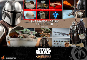 Star Wars The Mandalorian 12 Inch Figure 1/6 Scale Series - The Mandalorian and The Child (Deluxe) Hot Toys 905873