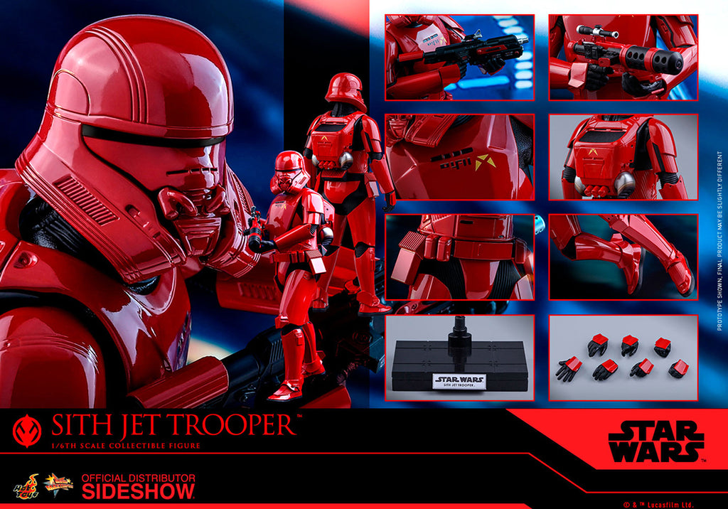 Star Wars The Rise of Skywalker 12 Inch Action Figure 1/6 Scale Series - Sith Jet Trooper Hot Toys 905634