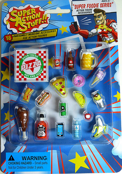 Super Action Stuff 6 Inch Scale Accessory Super foodie Series - Miniature Food Accessory Pack